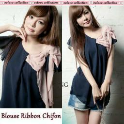 BR8807 - BLOUSE RIBBON CHIFON (VELOVE COLLECTION)