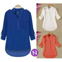 BR9104 - BLOUSE LADIES PINGUIN - biru
