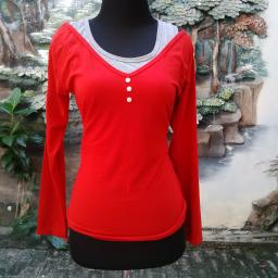 BR10034 - SALE BLOUSE RED