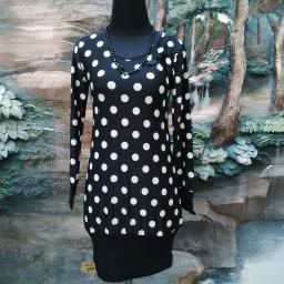 BR10487 - SALE MINI DRESS POLKA BLACK