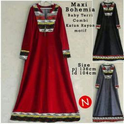 BR11680 - 6661 MAXI BOHEMIA - merah