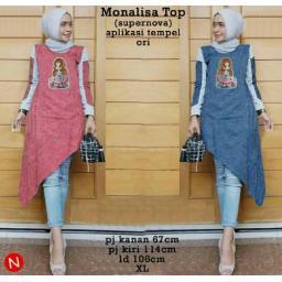 BR13732 - 54684 MONALISA TOP - merah