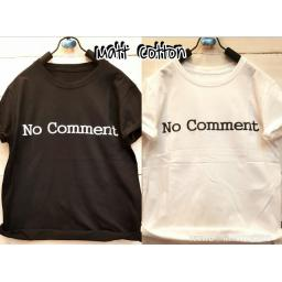 BR13955 - NO COMMENT T-SHIRT TUMBLR TEE - hitam