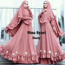 BR14063 - NINA SYARI DUSTY PINK