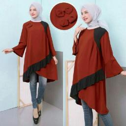 BR14122 - BLOUSE CORAL MAROON