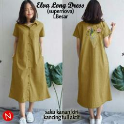 BR14302 - 61132 ELVA LONG DRESS KUNYIT