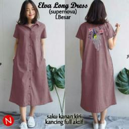 BR14304 - 61134 ELVA LONG DRESS DUSTY PINK