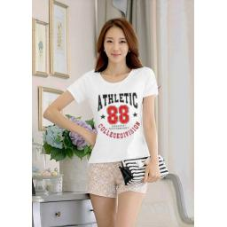 BR15504 - T-SHIRT PUTIH ATHLETIC 88 MERAH