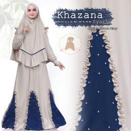 BR15583 - KHAZANA SYARI BROWN NAVY (EP)