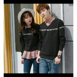 BR16089 - COUPLE SWEATER FILA HITAM
