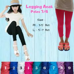 BR16257-4 - LEGGING ANAK POLOS  7/8 SIZE M - pink