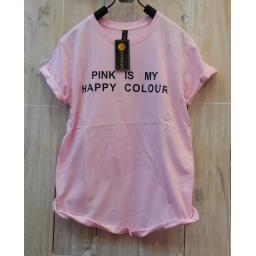 BR16324 - HAPPY PINK TSHIRT TUMBLR TEE