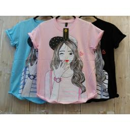 BR16359-1 - GIRL LOVE TSHIRT TUMBLR TEE - biru