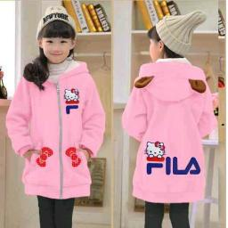 BR16384 - JAKET KIDS FILA HELLO KITTY PNK