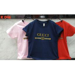 BR16419-1 - GUCCI KAOS ANAK TSHIRT TUMBLR TEE - size M pink