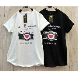 BR16613-2 - BECAUSE TSHIRT TUMBLR TEE - hitam