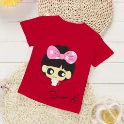 BR16682-1 - SWEET GIRL KAOS ANAK TSHIRT TUMBLR TEE - size M  merah