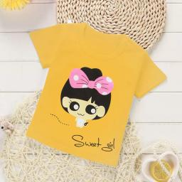BR16683-1 - SWEET GIRL KAOS ANAK TSHIRT TUMBLR TEE - size M kuning