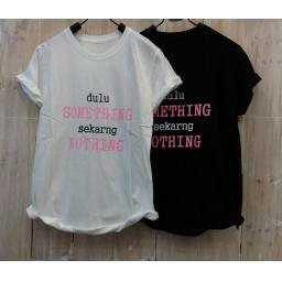 BR16721 - SOMETHING TSHIRT TUMBLR TEE - putih