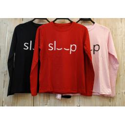 BR16732-3 - SLEEP  TSHIRT TUMBLR TEE LENGAN PANJANG - pink