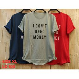 BR16736-2 - MONEY TSHIRT TUMBLR TEE SIZE XL - grey