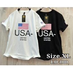 BR16737-2 - USA TSHIRT TUMBLR TEE SIZE XL - hitam