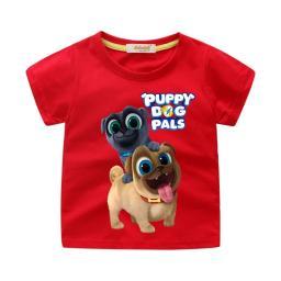 BR16828 - PUPPY DOG PALS KAOS ANAK TSHIRT TUMBLR TEE - size m merah