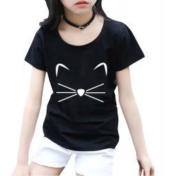 BR16830 - CAT KAOS ANAK TSHIRT TUMBLR TEE - size M hitam