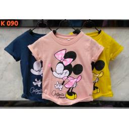 BR16900-5 - MINNIE MOUSE KAOS ANAK TSHIRT TUMBLR TEE - size L pink