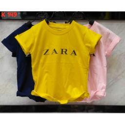 BR17200-3 - ZARA KAOS ANAK TSHIRT TUMBLR TEE - size M pink