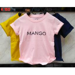 BR17201-5 - MANGO KAOS ANAK TSHIRT TUMBLR TEE - size L pink