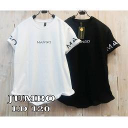 BR17262 - MANGO TSHIRT TUMBLR TEE SIZE JUMBO - putih