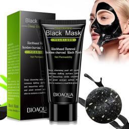 BR17376 - BIOAQUA BLACK MASK REMOVE BLACKHEAD BAMBOO CHARCOAL