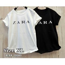 BR17453-1 - ZARA TSHIRT TUMBLR TEE SIZE XL - putih