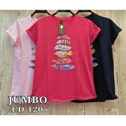BR17454-1 - SAYAP TSHIRT TUMBLR TEE SIZE JUMBO - pink