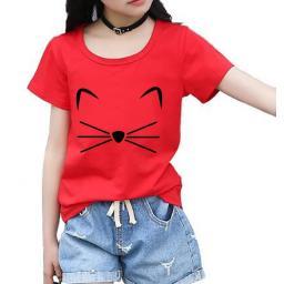 BR17455-1 - CAT KAOS ANAK TSHIRT TUMBLR TEE - size M merah