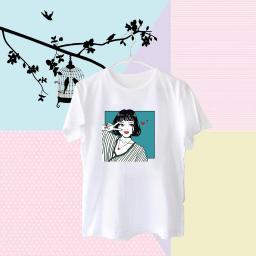 BR17910 - GIRL LOVE PUTIH TSHIRT TUMBLR TEE