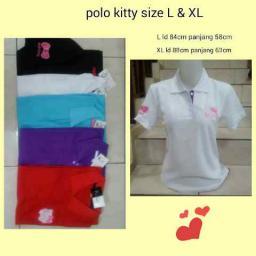 BR02946 - POLO KITTY L - merah