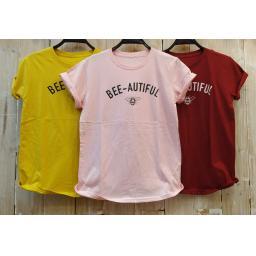 BR17945-2 - BEE AUTIFUL  TSHIRT TUMBLR TEE - pink