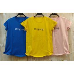 BR18045-2 - BINGUNG TSHIRT TUMBLR TEE - kuning
