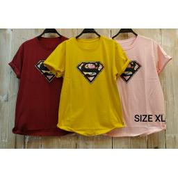 BR18051 - SUPERMAN TSHIRT TUMBLR TEE SIZE XL - maroon