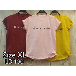 BR18117-2 - GIORDANO TSHIRT TUMBLR TEE SIZE XL - pink