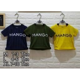 BR18234-3 - MANGO SALUR KAOS ANAK TSHIRT TUMBLR TEE - size M kuning