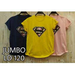 BR18346-1 - SUPERMAN TSHIRT TUMBLR TEE SIZE JUMBO - navy
