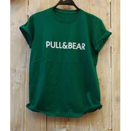 BR18511 - PULL & BEAR HIJAU TSHIRT TUMBLR TEE