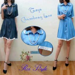 BR3061 - p28 dress tasya - biru