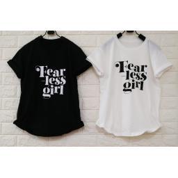 BR18804 - FEAR LESS GIRL TSHIRT TUMBLR TEE - hitam