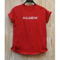 BR19018 - PULL & BEAR MERAH TSHIRT TUMBLR TEE