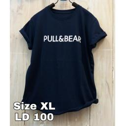 BR19031 - PULL & BEAR NAVY TSHIRT TUMBLR TEE SIZE XL