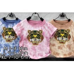 BR19815-8 - KAOS ANAK TIE DYE KENZO - size XL pink